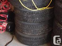 4- Cooper m&s rims and tires, size is 195/65/R15. Came