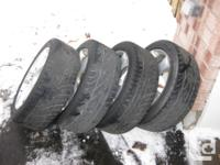 All year tires on alloy Mazda rims available for sale 4