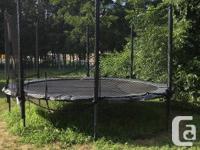 Brand New in 2015 14 ft AlleyOop trampoline. AlleyOop
