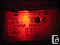 Allison Automatic 2200 from 2005 GMC C5500 HD, non pto