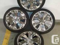 Alloy-Chrome Rims & Tires 225-40-18 on 4x108 Ford Rims