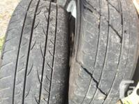 4 Yokohama 205-55-16 (Avid Envigor) 3 tires are good, 1