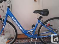 Ladies Kunstadt Hybrid blue 7 speed bike in new