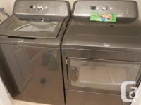 Exceptional washing machine and dryer. Acquired end of