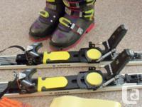 "Alpine Touring Ski Complete Set Skis Kastle 70"" Boots"