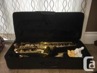 This alto saxophone is in great condition! We had only