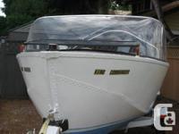 17 Foot Aluminum Riveted Boat w/Windshield /No