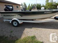 17 foot fishing boat,with 90 hp merc power trim and