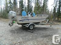 16 ft. Sylvan Kingfisher boat, EZ loader trailer. Comes