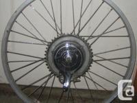 "aluminum rear rim with hub type brake for 24"" 1 gear it"