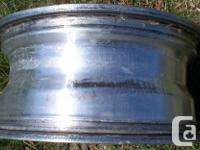 """Used Aluminum rim for 16"""" truck tire. 8 stud with a"""