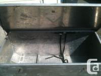 Aluminum truck box. Will fit a standard truck bed. Very