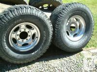 set of 4 good condition factory aluminum truck rims for