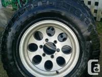 6x139.5 / 6x5.5 aluminum wheels with Kelly Safari TSR