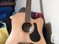 Alvarez Dreadnought guitar set includes: guitar stand,