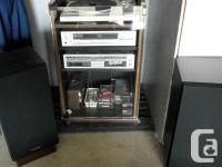 Technics quartz AM-FM radio with record and cassette