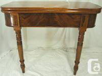 This is an absolutely beautiful antique mahogany