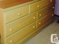 A beautiful set: seven drawer dresser with mirror, two