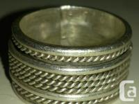 Awesome Looking Gentlemen's Spinner Ring For Sale $30.