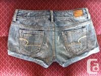 American Eagle denim shorts. decorated with silver