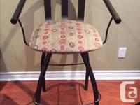 3 Amisco bar stools with back rest, $89 for all 3