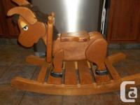 Amish Made Wooden Rocking horse dunkey for toddlers and