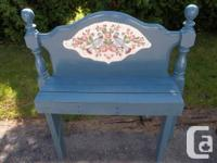 This Beautiful Distinctive Handcrafted Blue Bench hand