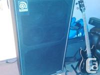 I have an ampeg svt4-pro (1600 watts) -900$ o.b.o.