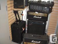 Used, Sale on all amps and pedals.  Marshall, Fender, Peavey, for sale  British Columbia