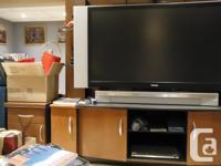 Attractive Solid TV Stand - Originally purchased Leon's