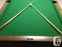 This Brunswick Bristol II table has been placed in a