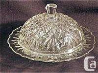 This exquisite round domed butter dish is in the