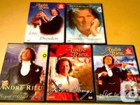 Andre Rieu 5 dvd`s collection. *22.00$ or >>6 DVD`s