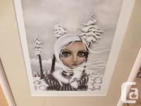 "ANGELINA WRONA lframed mini print ""EIRWEN"". This fine"