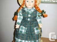 Available for sale - Anne Doll with stand. Porcelain