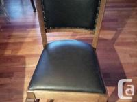 Selling antique 1/4 cut dining room oak chairs with