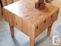 Authentic antique Butcher Block circa 1933 - 1940 from