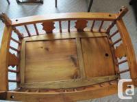 Cradle is solid elm wood, age 50+ years, good