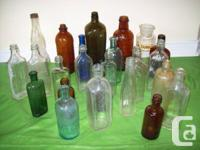ANTIQUE BOTTLES ======================  - Back Row Of