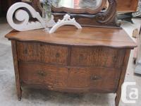 solid tiger oak dresser in its orginal state, hand