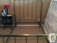 Remarkable 1905 Edwardian Age strong brass bed,