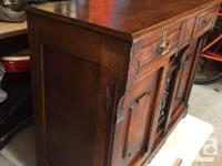"""Beautiful antique buffet measuring 48"""" wide x 19-¼"""""""