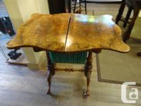 Here we have a very rare antique 1850's Victorian burl
