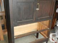 * Solid wood antique cabinet/dresser/tallboy. * Two
