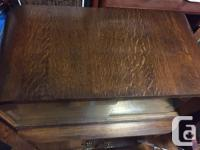 Beautiful antique rolled oak cabinet. Have had for 30+