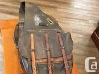 Antique US Calvary Leather Saddle Bags c. late 1800's