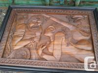 Beautifully carved, you can use it as a end table or a