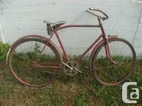 1940 's or 50's Vintage CCM bicycle, has been in the