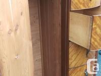 I have a beautiful antique cedar line wardrobe/dresser