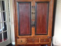 "1800's Rosewood Cabinet Approx. 41.5""w x 67.5h x 24""d"